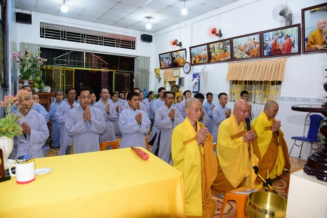 Repentant Ceremony at Minh Chat  ashram in Can Tho