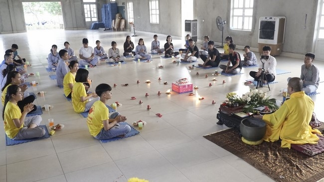 Establishment Anniversary of the Buddhist Youth Club at Dong Cao Pagoda.