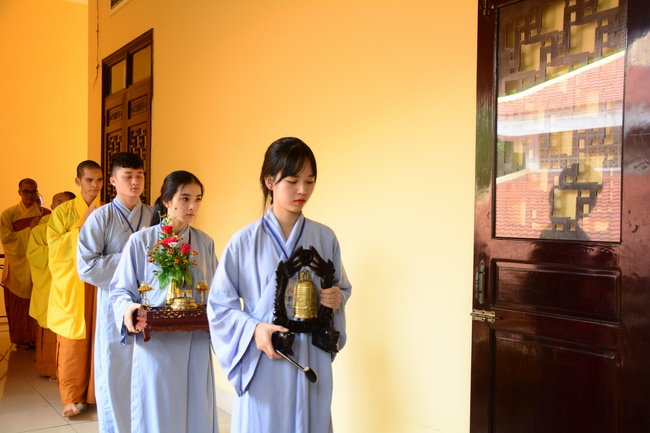 hình ảnh khoá tu mùa hè tại chùa hoằng pháp. Ảnh 13